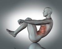 le chiffre 3D médical reposent dedans la position Photos libres de droits
