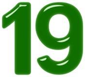 Le chiffre 19, dix-neuf, d'isolement sur le fond blanc, 3d rendent illustration de vecteur