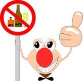 Le chiffre drôle de bâton fait de la publicité l'interdiction d'alcool Images libres de droits