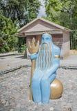 Le chiffre du dieu Neptune de mer Images stock