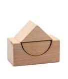 le chiffre en bois forme g om trique photo stock image. Black Bedroom Furniture Sets. Home Design Ideas