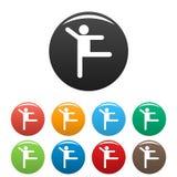 Le chiffre icônes de bâton de stickman a placé le vecteur de pictogramme simple Image libre de droits