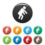 Le chiffre icônes de bâton de stickman a placé le vecteur de pictogramme simple Image stock