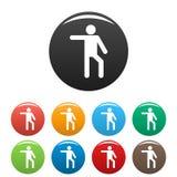 Le chiffre icônes de bâton de stickman a placé le vecteur de pictogramme simple Images libres de droits