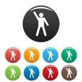 Le chiffre icônes de bâton de stickman a placé le vecteur de pictogramme simple Photos libres de droits