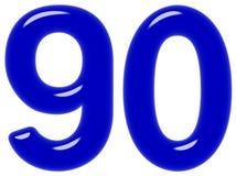 Le chiffre 90, quatre-vingt-dix, d'isolement sur le fond blanc, 3d rendent illustration libre de droits