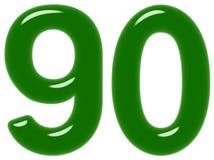 Le chiffre 90, quatre-vingt-dix, d'isolement sur le fond blanc, 3d rendent illustration stock