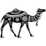 Le chiffre stylisé du chameau décoratif Image libre de droits