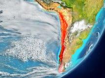 Le Chili de l'espace Photo libre de droits