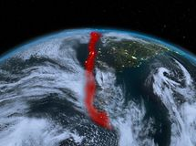 Le Chili de l'espace la nuit Photos stock