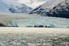 Le Chili - l'Amalia Glacier Photo stock