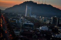 Le Chili, Santiago de Chile, paysage urbain images libres de droits