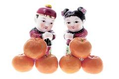 le Chinois figure des mandarines Image stock