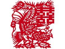Le Chinois papier-a coupé Images libres de droits