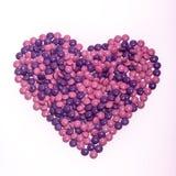 Le chocolat boutonne le coeur Images stock