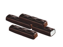 Le chocolat a couvert le bar Photographie stock