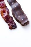 Le chocolat a couvert le lard Photographie stock libre de droits