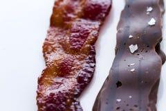 Le chocolat a couvert le lard Photos libres de droits