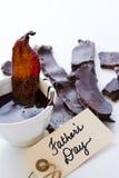 Le chocolat a couvert le lard Image libre de droits