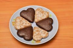 Le chocolat a couvert le pain d'épice Photo libre de droits