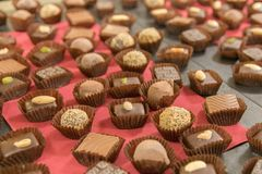 Le chocolat danois délicieux Images libres de droits