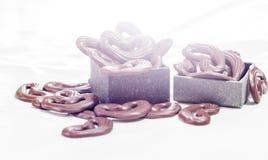 Le chocolat heart Images libres de droits