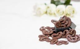 Le chocolat heart Photo libre de droits