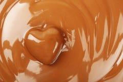Le chocolat heart Photographie stock