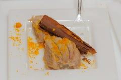 Le chocolat s'écaille avec du boeuf Photo libre de droits