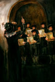 Le choeur des enfants Images libres de droits