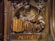 Le choeur posent le découpage de Moïse - Léon Images stock