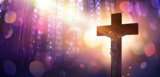 Le Christ crucifié - symbole de la foi Image libre de droits