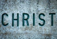 Le Christ dans la roche Image stock