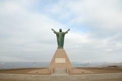 Le Christ du monument de paix - Arica - Chili Image stock