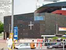 Le Christ, espoir de l'église du monde Photographie stock