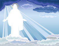 Le Christ est levé - la résurrection Photo libre de droits