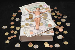 Le Christ et argent Photographie stock libre de droits