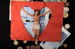 Le Christ et argent Photographie stock