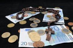 Le Christ et argent Photos stock
