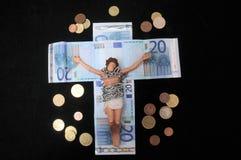 Le Christ et argent Images stock