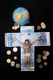 Le Christ et argent Images libres de droits