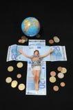 Le Christ et argent Photo libre de droits