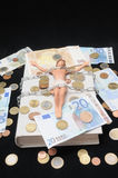 Le Christ et argent Image libre de droits