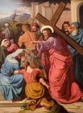 Le Christ et le cri de la femme Image libre de droits