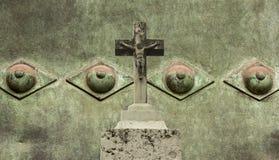le Christ Jésus en travers photo libre de droits