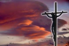 le Christ Jésus en travers Photos stock