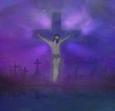 le Christ Jésus en travers Photographie stock libre de droits