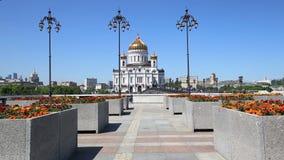 Le Christ le jour de cathédrale de sauveur, Moscou, Russie clips vidéos
