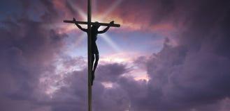 le Christ Jésus en travers Images libres de droits