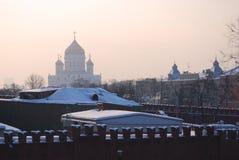 Le Christ l'église de sauveur à Moscou, Russie Photographie stock libre de droits